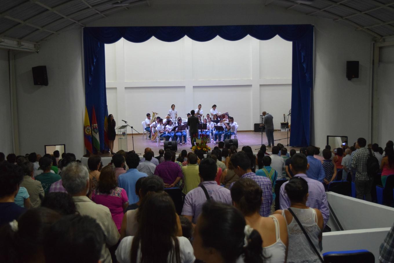 La banda sinfónica en la reapertura del Teatro Luis Enrique Osorio