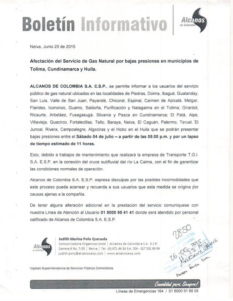 Archivo / Alcaldía de Ricaurte