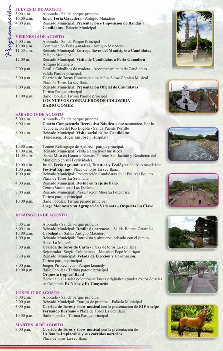 Programación Ferias y Fiestas en Tocaima 2015
