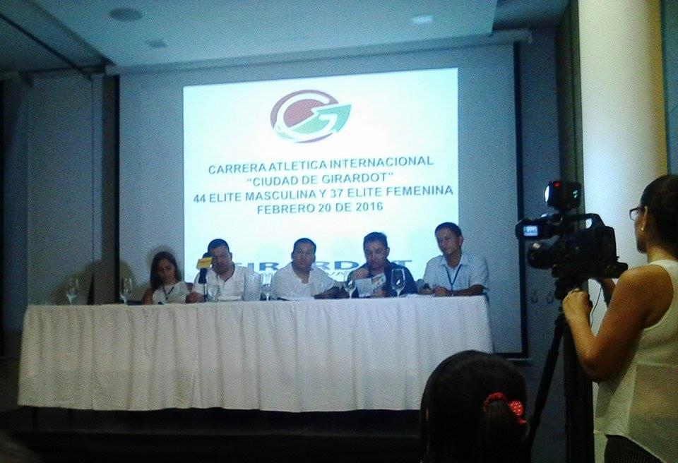 Rueda de prensa sobre la Carrera Atlética Internacional Ciudad de Girardot