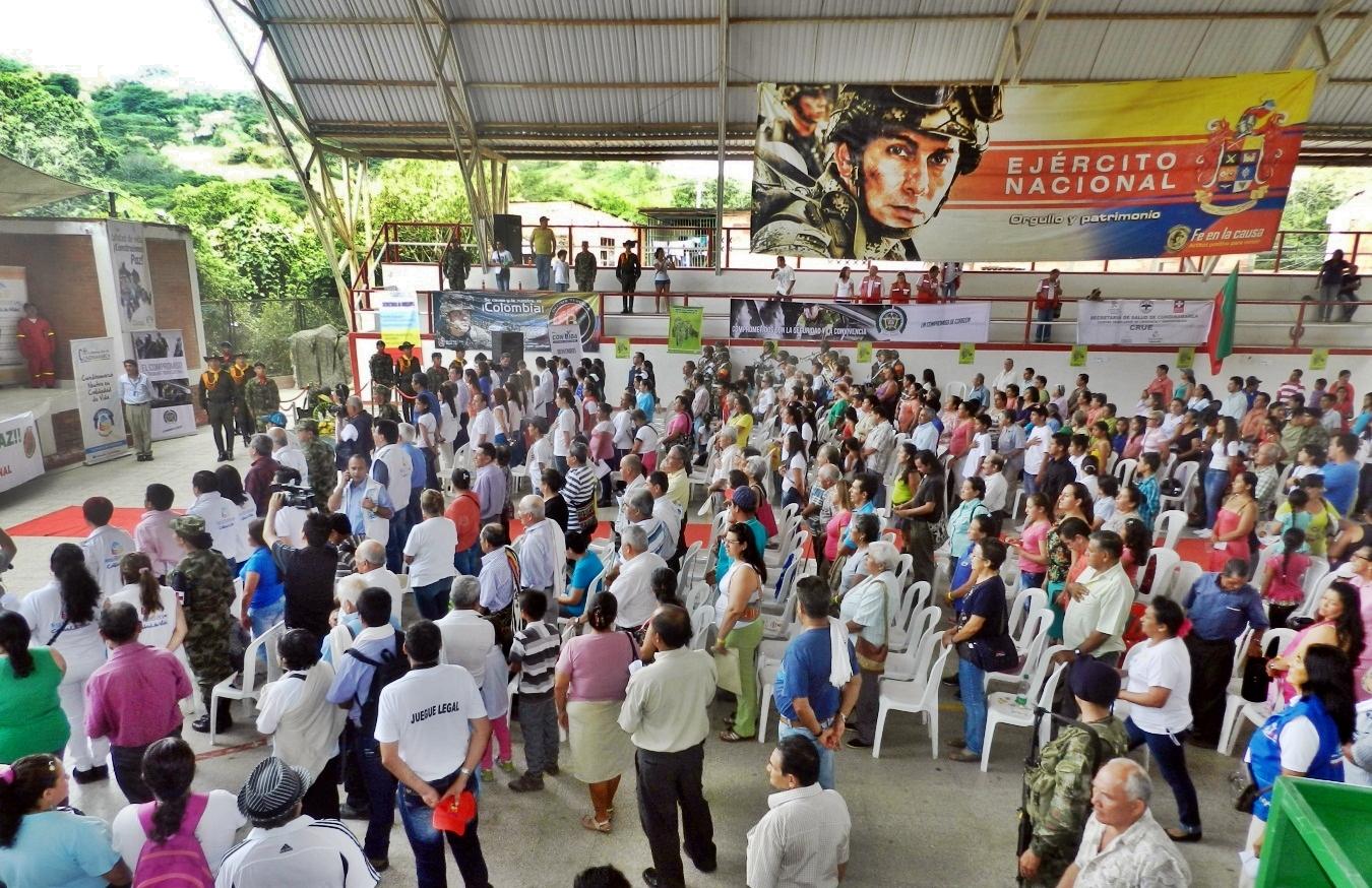 La participación del Batallón Colombia en diversos eventos realizados en Cundinamarca.