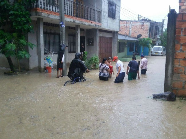 Barrio inundado en Girardot