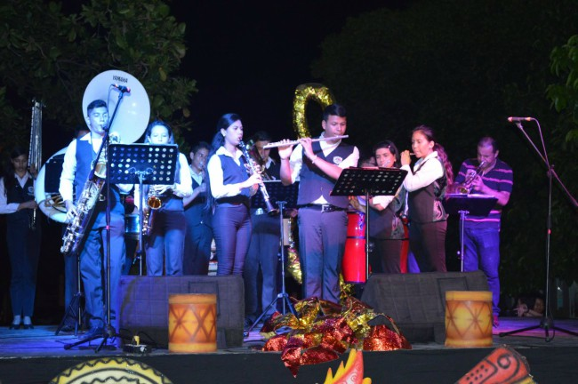 Foto: Archivo particular Presentación del Coro de Ricaurte durante la Semana Santa